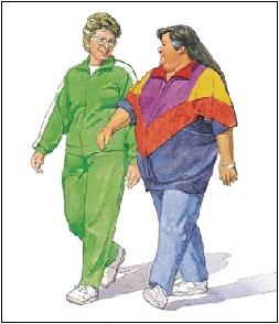 Image of woman walking