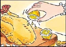 Lemon on poultry