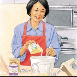 Image of woman cooking