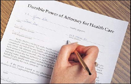 Signing advance medical directive