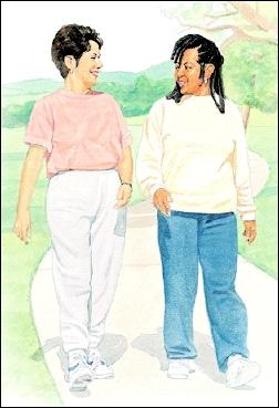 Image of patient walking