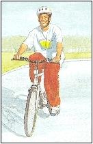 Image of man bicycling