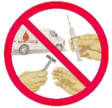Image: No sharing of razors and syringes