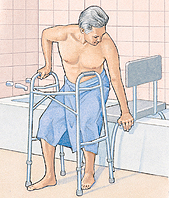 Image of man with walker